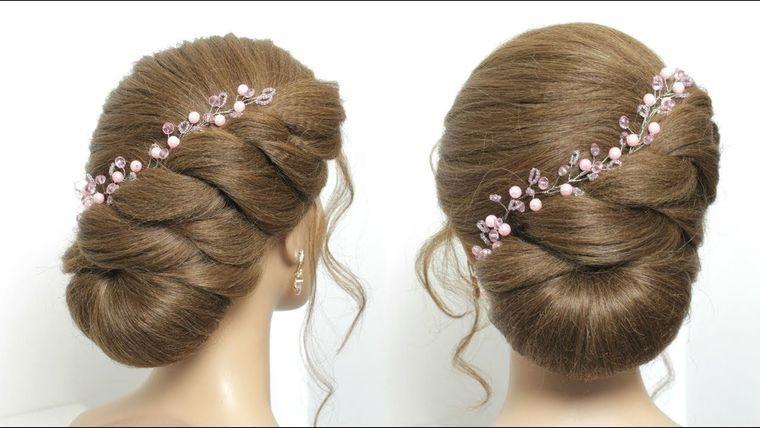 Easy Bun Hairstyle For Long Hair Tutorial Simple Wedding Updo