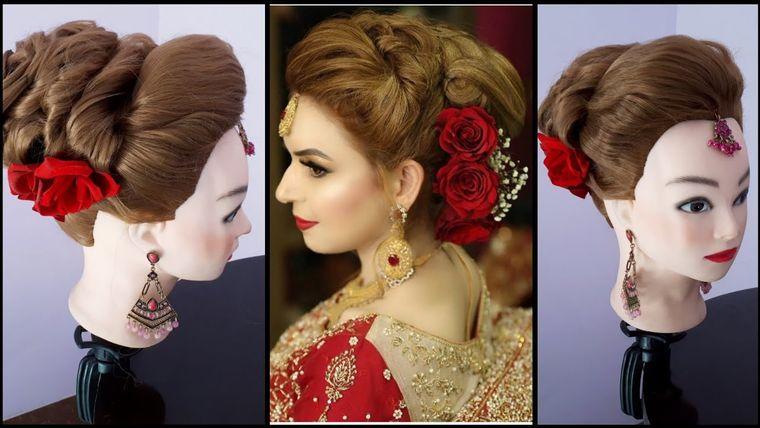 Traditional Bridal Bun Hair Tutorial Asian Bridal Hairdo